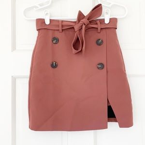 CHICWISH skirt size XXS pink faux wrap buttons